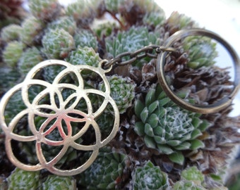 seed of life keychains (brass)