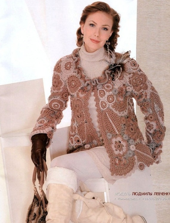 Book Cover Crochet Jacket : Crochet patterns e book instant download by