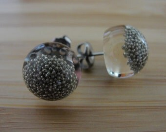 Silver Ball Earrings