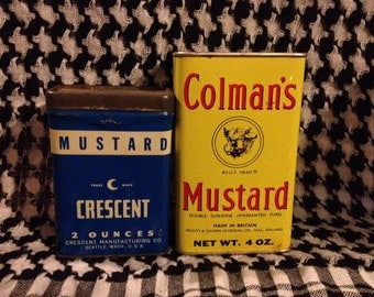 Vintage Mustard Tins