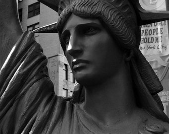Digital Photography,photographic print,#1456,ARCHITECTURE,black and white,architecture detail,City of New York,wall art, art print,statue