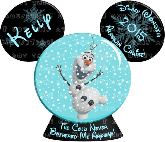 Magnet Olaf Alaskan Or Baltic Cruise Snow Globe By Mousetime