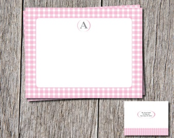 Gingham thank you cards
