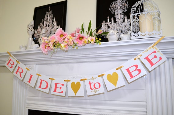 Bridal Shower Banner Bride to be Banner Bachelorette Party