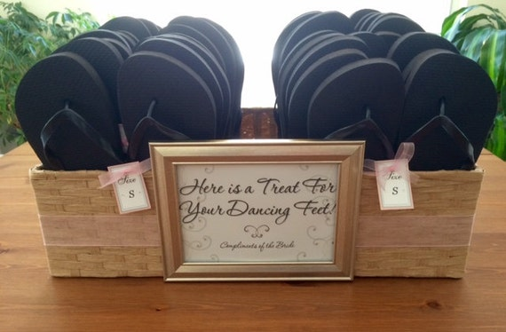 wedding ideas flip flop basket wedding reception flip flops amp basket for your guests 28103