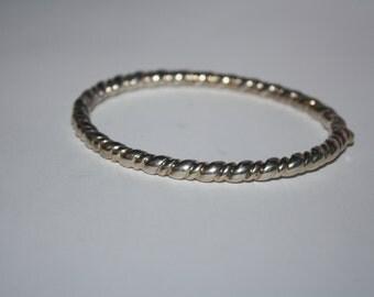 Beautiful Vintage Petite Sterling Silver  Bracelet 8 in