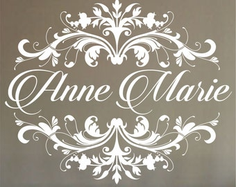 Girl's Name Wall Decal,Personalized Name Wall Decal  Nursery Wall Decal shabby chic  Nursery Vinyl Wall Art  Vinyl Lettering - Vinyl Decal,