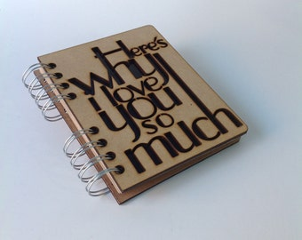 A6 recycled notebook I love you so much
