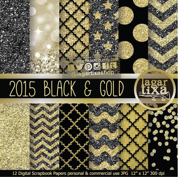 Feliz Año Nuevo Oro Negro y Dorado Fondos Invitaciones Blog para ...: https://www.etsy.com/es/listing/175045780/feliz-ano-nuevo-oro-negro...