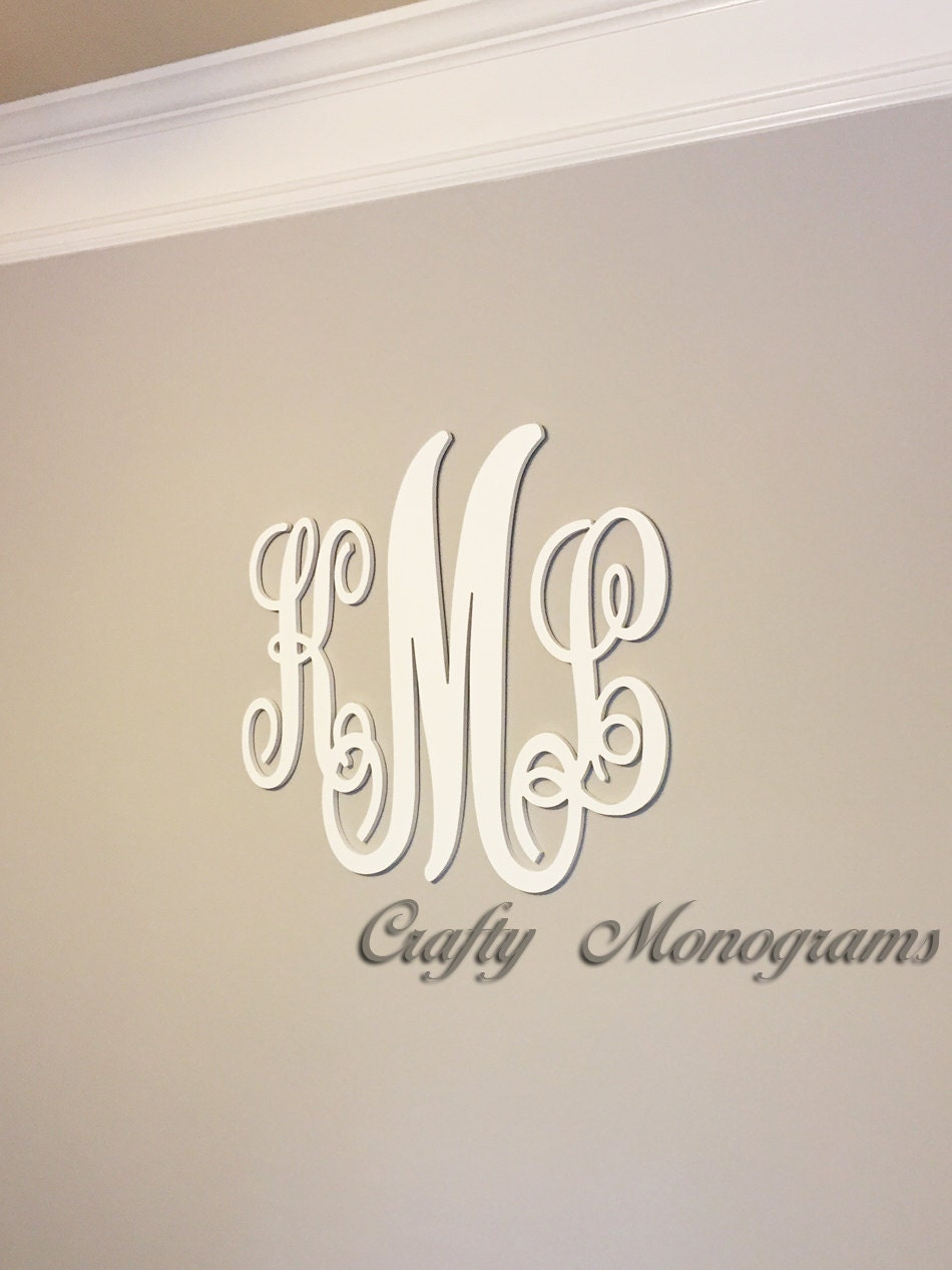 24 x 26 nursery decor wooden monogram wall art large wood for Large wall letters for nursery