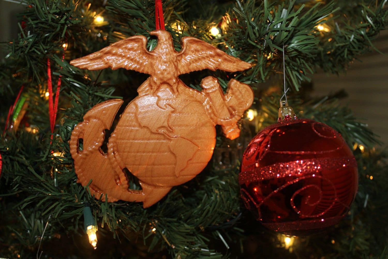 US Marine Corps, Wood Ornament, marine corps gifts, Marine Christmas ...
