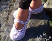 Crochet Mary Jane Style Slippers made to order