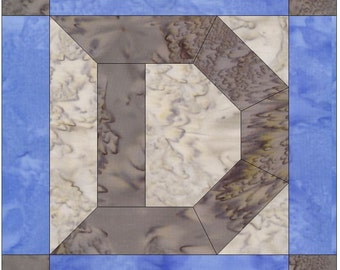 Letter D Paper Piece Foundation Quilting Block Pattern