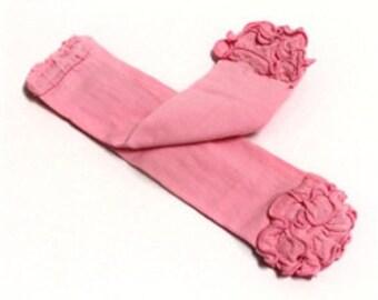 Children  Solid pink  leg warmers