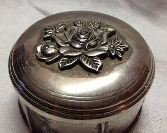 Vintage Silver Jewelry Dish / Tinker Box
