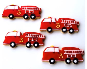 Half Dz. Fire Truck Cookies! Great Party Favor and ready to extinguish any fire!