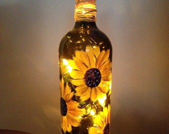 Wine Bottle with Light
