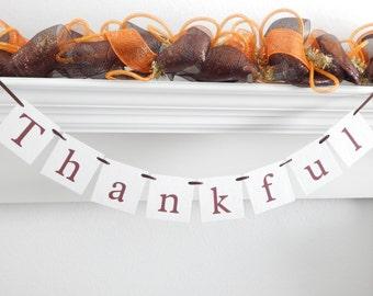 Fall banner, Thankful banner, fall decor, fall decorations, Thanksgiving sign, Thanksgiving banner, Be Thankful, thanksgiving decoration