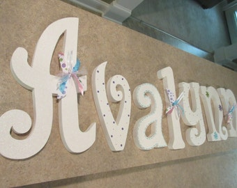 Nursery letters, Nursery wall hanging letters, White nursery decor, nursery wall letters
