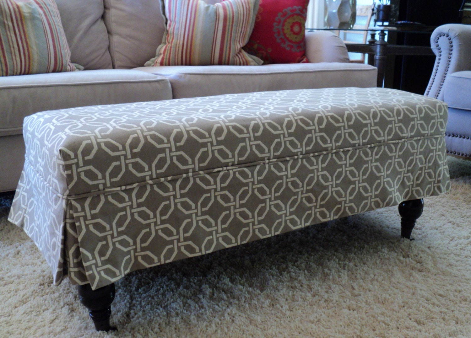 fabric covered ottoman made to order ottoman slipcovers made from your fabric 15178 | il fullxfull.696396448 qopc