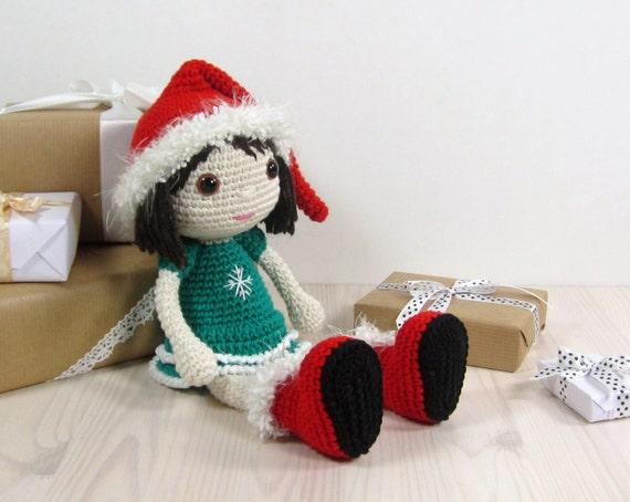Tutorial Elfi Amigurumi : PATTERN: Crocheted Christmas elf doll Amigurumi pattern
