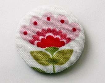 PIN back button or magnet flower