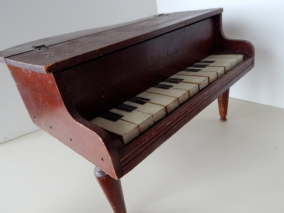 Baby Grand Symphony Wood Toy Piano - Vintage 1920's Musical Child's ...