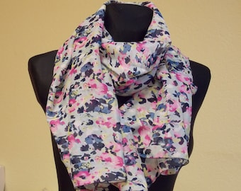 "Silk chiffon scarf  ""ANNETTE"" -  scarf for women -  scarves"
