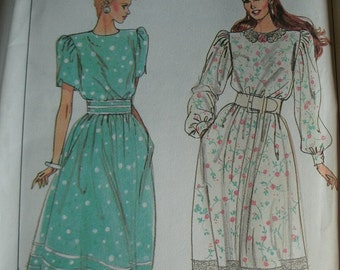 Misses Dress with Sleeve Variations Misses Size 6-8 Simplicity Pattern 9013 Rated Easy to Sew  UNCUT Pattern Dated 1989 Vintage