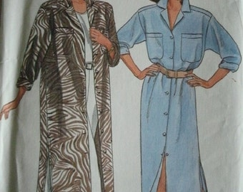 Misses Dress and Pants Sizes 14-16-18 VINTAGE Butterick Pattern 5583 Fast & Easy - Easy to Sew UNCUT Pattern Dated 1987