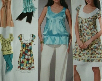 Misses Dress or Top with Variations Sizes 14-16-18-20-22 Simplicity Summer Trends Pattern 0628 Day and Evening NEW UNCUT Pattern Dated 2008