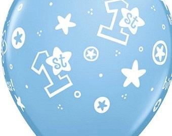 Balloons Boy 1st Birthday Balloons, First Birthday Balloons, Baby Boy Balloons, 1st Birthday Balloons Boy, Boy Blue Balloons