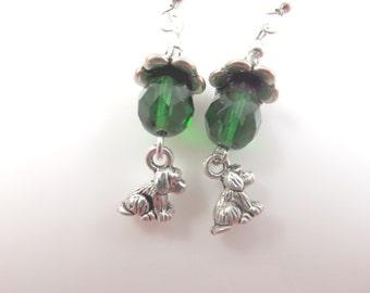 Girls tiny dog earrings