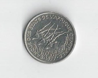A 1977D Central African States 50 Francs