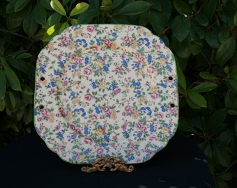 Vintage 1930's Japanese Chintz Serving Plate