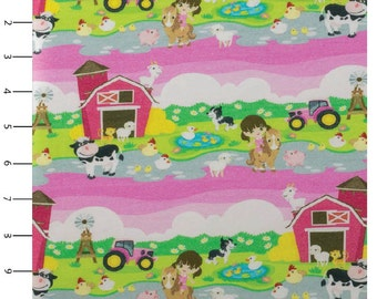 Knit Little Farm Pink by Made Whimsy