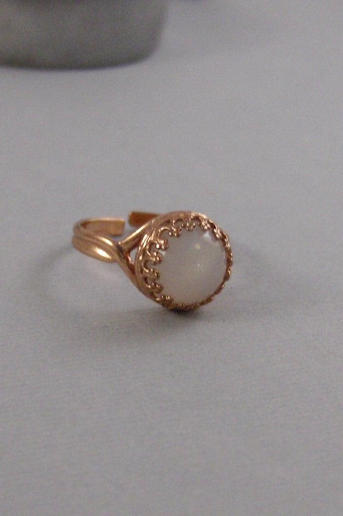 Goldring mit mondstein  Mondstein Rotgold Ring Ring Rose Gold Ring Mondstein