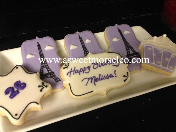 Paris Themed Cookies