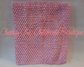 9x8 inch LIGHT PINK Crochet Tutu Dress Tube Top [CB9LTPK]