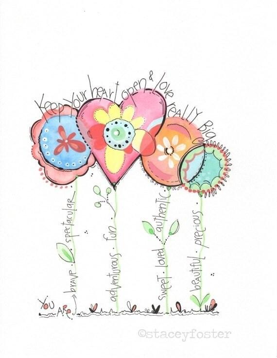 Personalized Girls Children S Art Print Little Girls