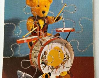Vintage Drumming Bear Puzzle