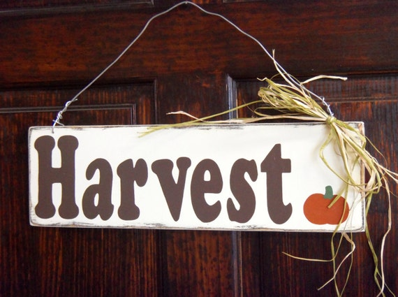 Wooden Sign - Harvest Sign - Fall Decorations - Seasonal Decor ...