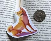 Shiba Inu dog sticker or magnet orange and black and tan variants