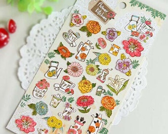 Korean Scrapbook stickers-- Flowers