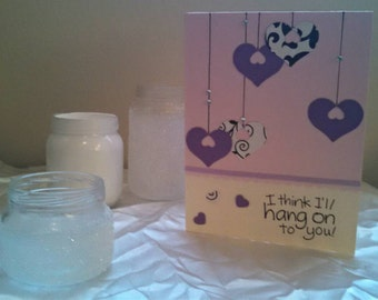 Hanging Hearts Card