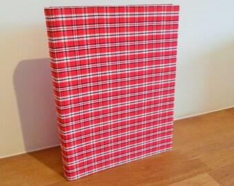 Red Tartan Handbound Photograph Album