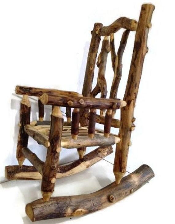 SALE Aspen Rocking Chair Log Rocking Chair Cabin by SodaCreek