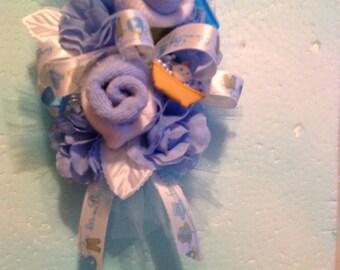 Baby boy silk sock corsage set of 3          Mom to be, 2 grandma's corsage