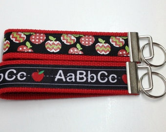 ABC Apples School Key Fob Wristlet Key Chain
