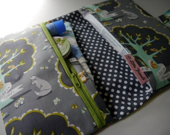 Diaper Changing Kit | Grey Diaper Clutch | Diaper Bag | Diaper Wipes Bag | Diaper Wipes Clutch | Baby Clutch | Baby Shower Gift Girl